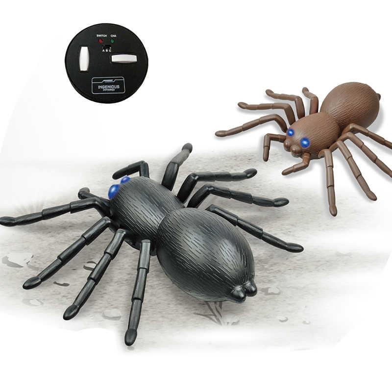 อินฟราเรด RC รีโมทคอนโทรลตลกชุดของเล่นสำหรับผู้ใหญ่สมาร์ทขนาดใหญ่แมงมุมแมงป่อง Prank 2.4G วิทยุควบคุมแมลงของเล่นสำหรับเด็ก