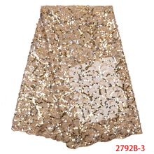 Net Laces-Fabrics Tulle Sequins French Nigerian Embroidered Wedding-Ks2792b-3 African