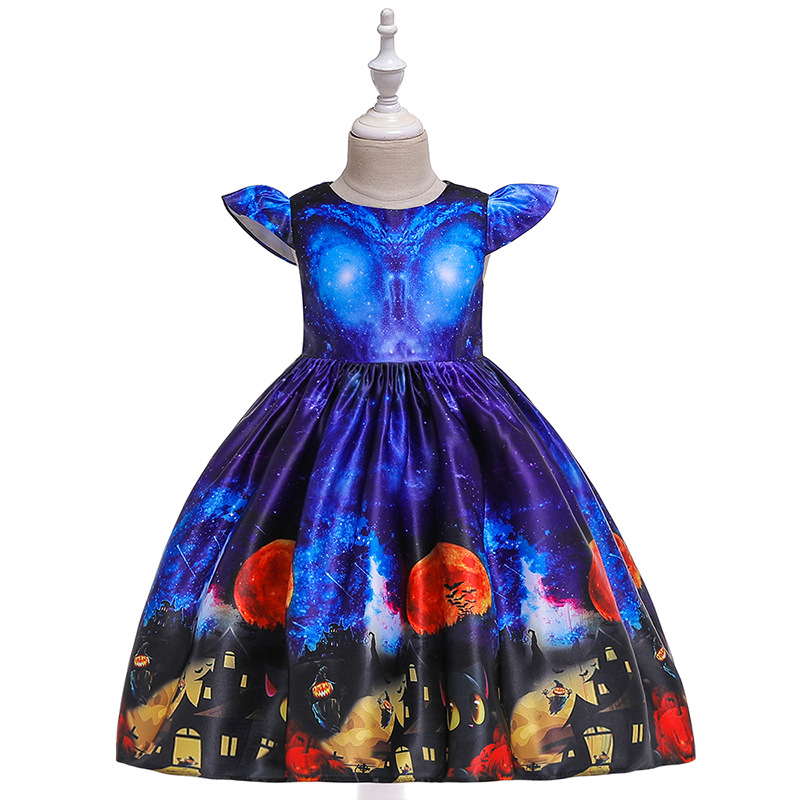 Girls Dresses For Kids 2019 Halloween Cosplay Party Dress Clothes Teens Princess Dress Hat Children Christmas Carnival Dresses (14)