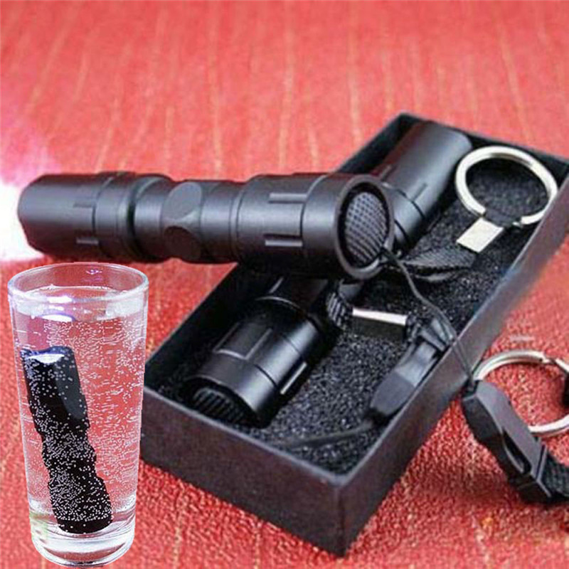 Portable Waterproof 8000LM Pocket LED Flashlight Zoomable LED Torch Mini Penlight Light A