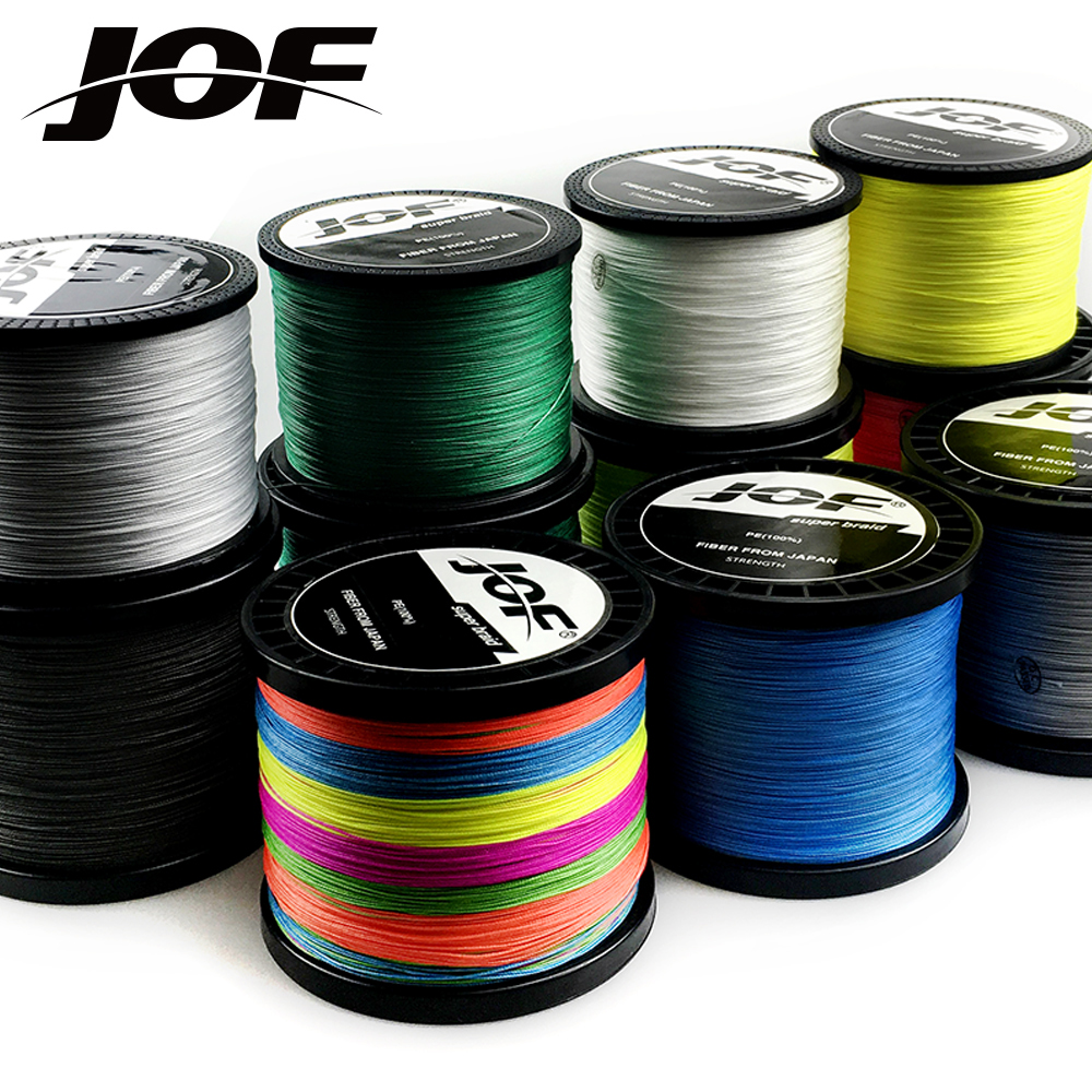 JOF 300M 500M 1000M 8 Strands PE Braided Wire Multifilament Fishing Line Carp Fishing Tackle