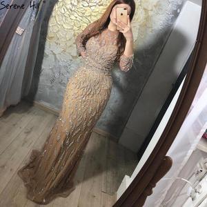 Image 2 - שלווה היל דובאי יוקרה בת ים נוצץ פורמלי שמלת ערב 2020 ואגלי פאייטים ארוך שרוולים פורמליות המפלגה שמלת CLA60892