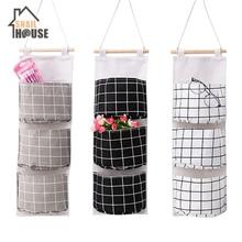 Snailhouse  Storage Bag Hanging 3 Pocket Foldable Hang Wall Dormitory Organizador