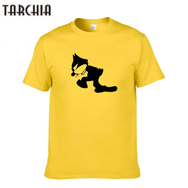 TARCHIA 2019 new arrive felix cat pullover male fashion t-shir cotton men short sleeve boy casual homme tshirt tops tees plus