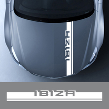 Car Hood Stickers Auto Engine Bonnet Cover for Seat Ibiza 6J 6L Vinyl Film PVC Decoration Sport Racing Decals Car Accessories