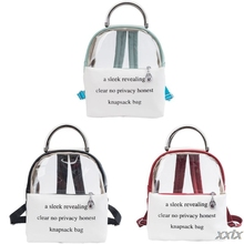 Fashion Transparent PVC Backpack Travel School Book Bag Daypack for Teenager Gir A69C