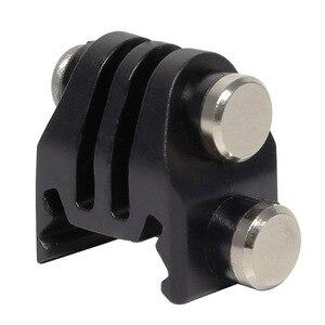 Image 2 - Câmera de ação montagem em trilho de náilon adaptador fixo para picatinny airsoft rifle laser adaptador montagem para gopro eken