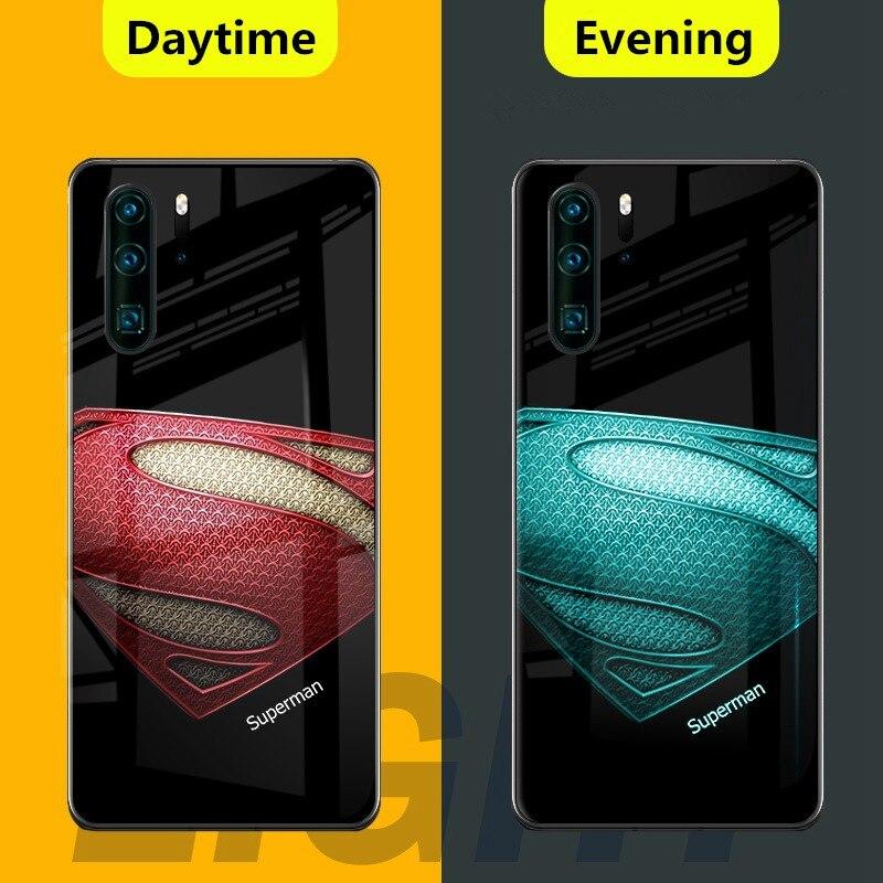 Marvel Avengers Luminous Tempered Glass Case for huawei P30 Pro ...