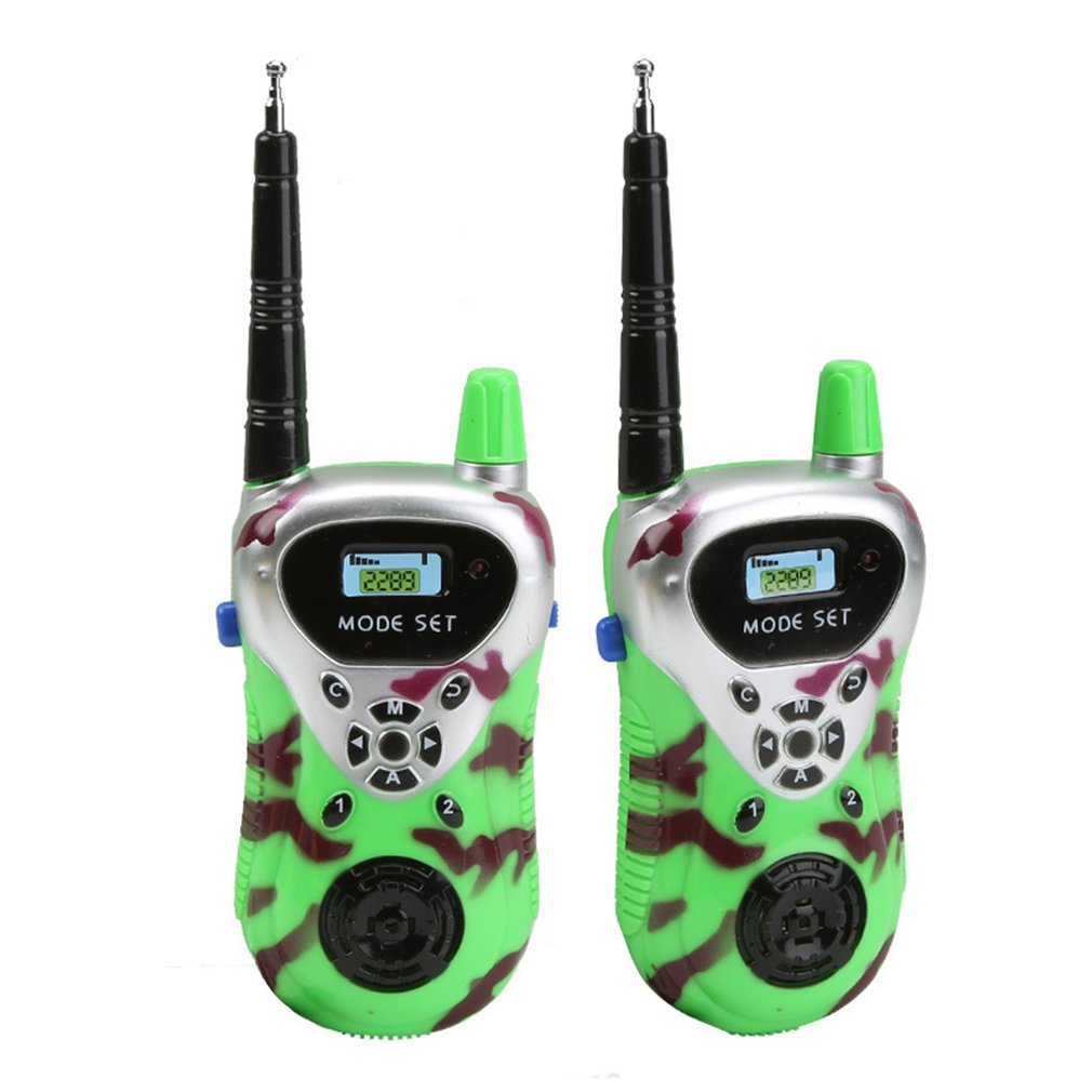 Portable Plastic Digital Toys Walkie Talkie Professional Dual Frequency Dual-band Interphone Radio Intercoms Toys Gift For Kids