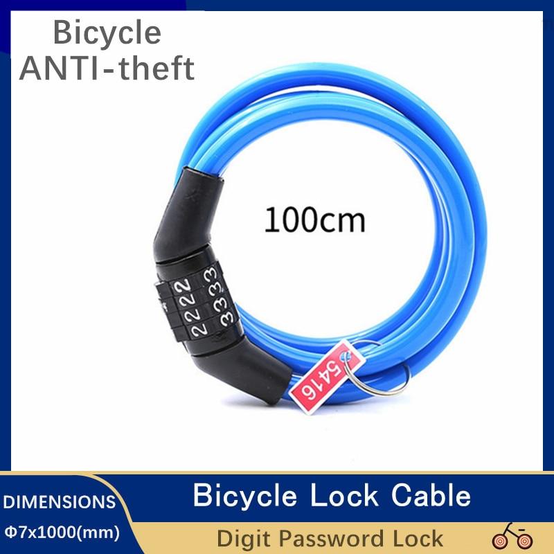 Motor Bike Lock 4 Digit Code Combination Bicycle Lock Cycle Security Lock Motorcycle Gadgets For MTB Accessori Anti-theft Lock