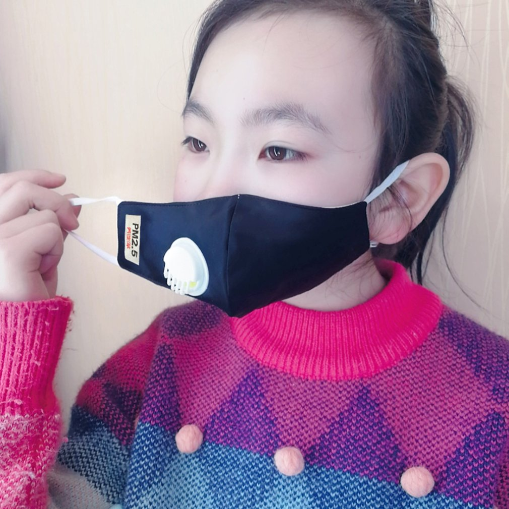 Baby Child Face Mask N95 Vertical Folding Non Woven Fabric Mask With Breath Valve Anti Dust Anti-Bacterial Mask PM2.5 Respirator