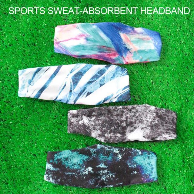 Lycra Sports Headband Breathable Sweat Absorption Antiperspirant Cycling Yoga Belt Basketball Fitness Running Sweat Guide Turban 4