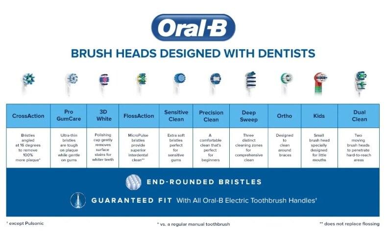 Oral b substituição escova cabeça 100% original