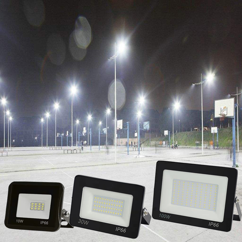 <font><b>10W</b></font> 30W 50W 100W 200W 220V <font><b>LED</b></font> FloodLight <font><b>Reflector</b></font> <font><b>LED</b></font> Flood Light Waterproof IP65 Spotlight Wall Outdoor Lighting search light image