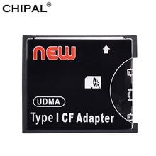 CHIPAL Convertidor de tarjeta de alta velocidad SDXC SDHC a Flash compacto estándar tipo I, Adaptador SD a CF, tarjeta compatible con capacidad de 8GB 128GB