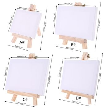 Mini Canvas and Natural Wood Easel Set For Art Painting Drawing Craft Supply одежда для йоги art and craft s258