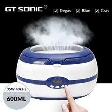 GTSONIC VGT 2000 بالموجات فوق الصوتية الأنظف 600 مللي 35 واط ل قلادة أقراط أساور أطقم الأسنان حمامات بالموجات فوق الصوتية المنزلية