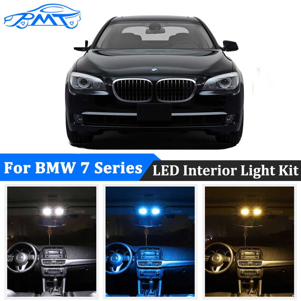 BMT LED Interior Lights kit Canbus For <font><b>BMW</b></font> <font><b>7</b></font> <font><b>Series</b></font> <font><b>E38</b></font> E65 E66 E67 F01 F02 F03 F04 1994-2015 Super Bright Bulbs Plug and play image