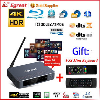 Egreat A5 4K UHD Media Blu-ray Hard Disk Play with HDR Android 5.1 TV Box Support 3D Blu-ray ISO Playback Navigation Menu, DOLBY