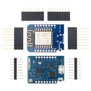 Image 1 - 10Pcs P8266 ESP 12 WeMos D1 Mini Module Wemos D1 Mini WiFi Development Board Micro USB 3.3V Based On ESP 8266EX 11 Digital Pin