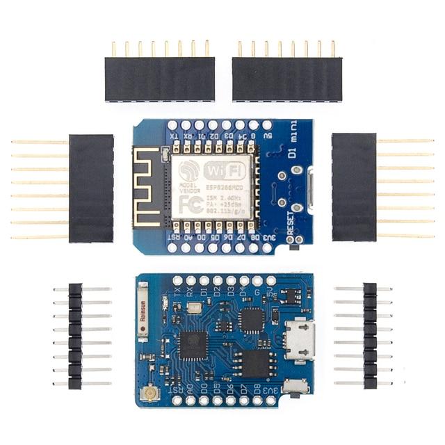 10Pcs P8266 ESP 12 WeMos D1 Mini Module Wemos D1 Mini WiFi Development Board Micro USB 3.3V Based On ESP 8266EX 11 Digital Pin