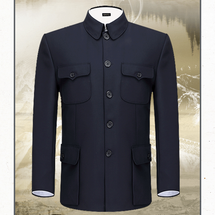 Mao Suit Tops Zhongshan Suit Men's Spring Autumn Clothes Chinese Traditional Clothing For Men Coats Jacket Chinese Tunic Suit