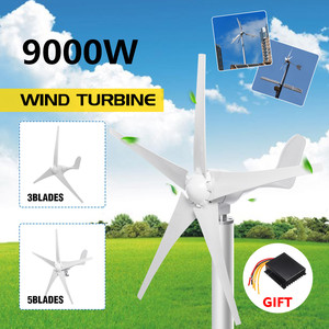 9000W 3/5 Wind Blades Option Wind Power Turbines Generator 12V 24V With Waterproof Charge Controller Fit for Home Or Camping(China)