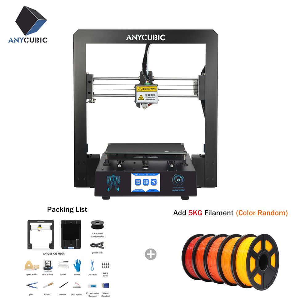 ANYCUBIC 3d принтер I3 Мега плюс размер полная металлическая рама платформа настольный промышленный класс высокая точность 3d Drucker наборы нити