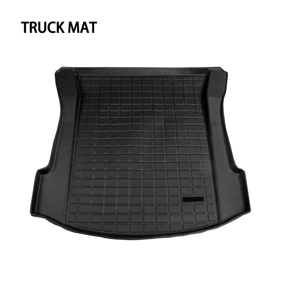 Maty do bagażnika dostosowany bagażnik tylny samochodu mata bagażnika bagażnika wodoodporny ochronny klocki Mat kompatybilny dla Tesla Model 3