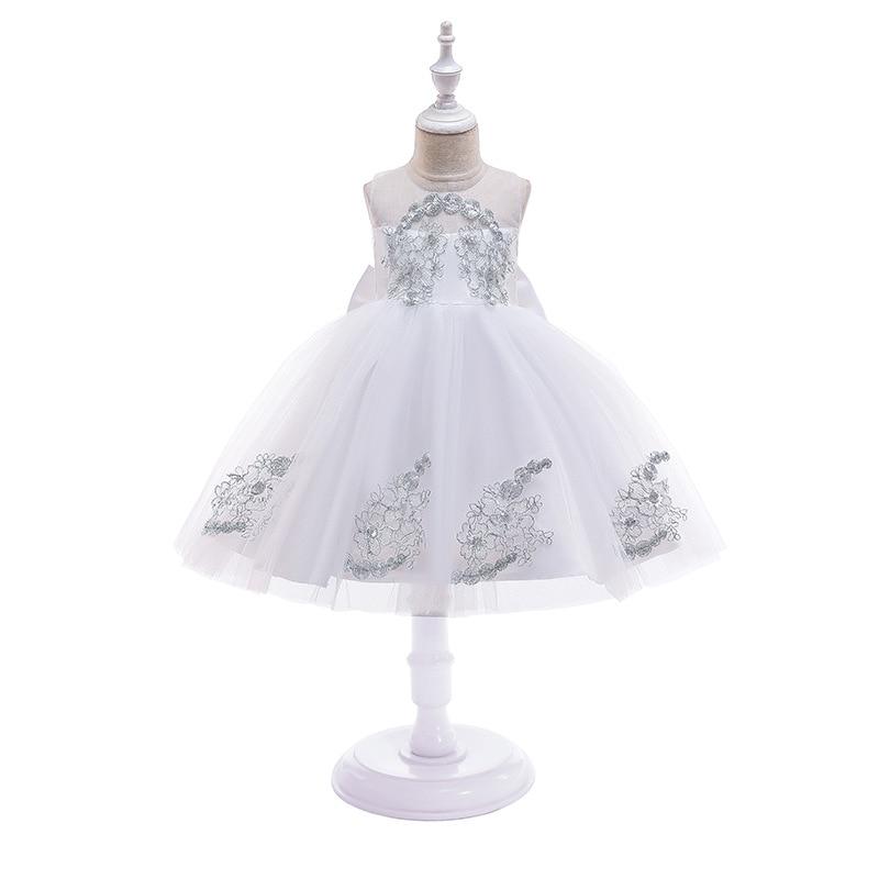 2019 New Style Summer Girls Red Wedding Dress Formal Dress Girls' Princess Skirt Puffy Formal Dress Flower Boys/Flower Girls Per