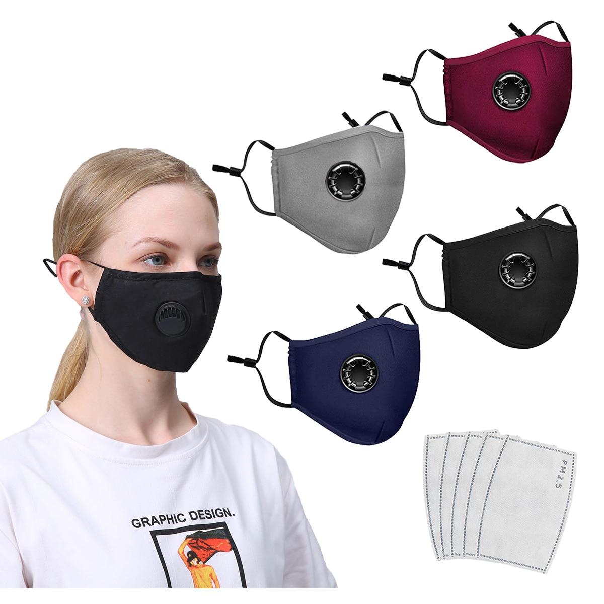 Маски с фильтрами черные маски набор Пыленепроницаемая Рождественская маска для рта моющаяся многоразовая маска для лица маски для взросл...