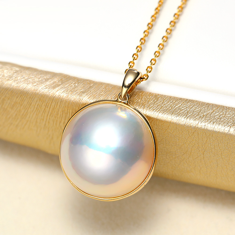 Ladies Luxury Handpicked AAA Freshwater Cultured Single Pearl Pendant Necklaces for Women Wedding Gift Jewelry 11