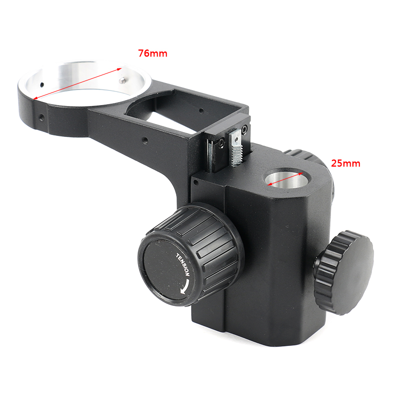 25MM/32MM Stereo Microscope Heavy Gear Ring Adjustable 76mm Stereo Microscope Lens Stand Gear Ring Holder Mount Arm Support