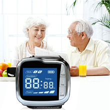 Cold Laser Therapy Watch for Rhinitis Ear Deafness Pharyngitis Pain Relief High Blood Pressure Diabetes Treatment CE Approved cold laser watch with digital blood glucose monitor for hypertension diabetes and tinnitus ce approved