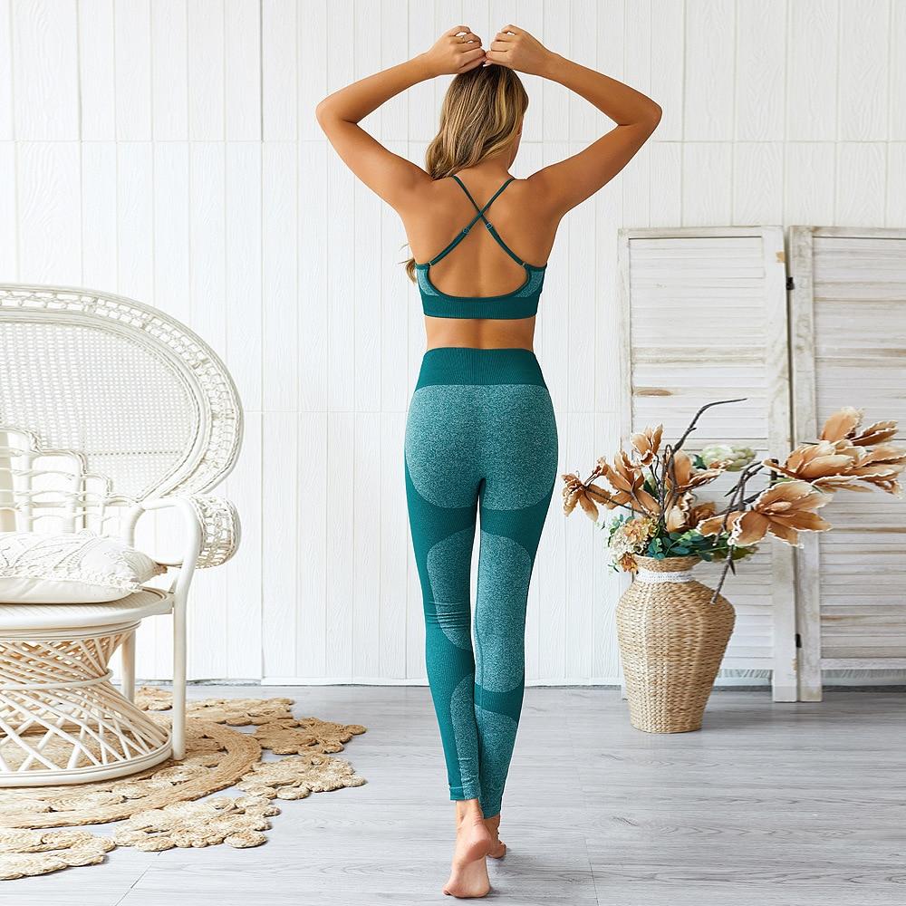Купить женский спортивный костюм для бега и йоги спортивная одежда