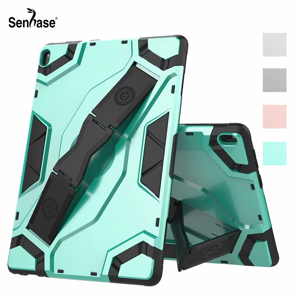 Shockproof Armor TPU PC Portable Hand Strap Stand Tablet Cover For <font><b>Lenovo</b></font> Tab P10 10.1 inch TB-X705L TB-<font><b>X705F</b></font> TB X705 <font><b>X705F</b></font> Case image