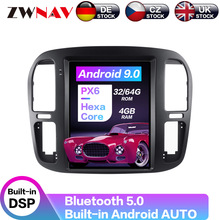 Carplay DSP Android 9.0 PX6 Vertical Tesla Radio Car Player Stereo GPS Navigation For Toyota Lander Cruiser LC100 1998-2002 carplay dsp android 9 0 px6 vertical tesla radio car multimedia player stereo gps navigation for land cruiser lc100 2002 2007