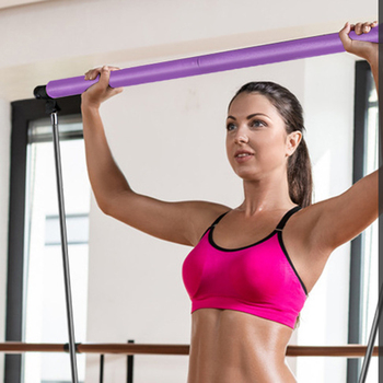 Banda de resistencia para ejercicios Yoga Pilates Bar Kit Barra de Pilates portátil Barra de tonificación muscular para gimnasio en casa Pilates de alta calidad