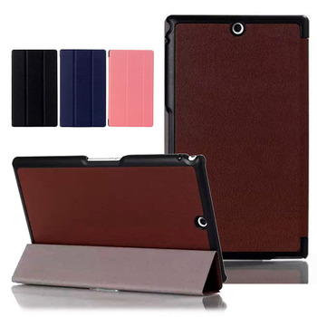 Tri-fold Stand Leather Case Skin Shell Cover For Sony Xperia Z3 Tablet Compact SGP611 SGP621 SGP641 8inch Tablet PC image
