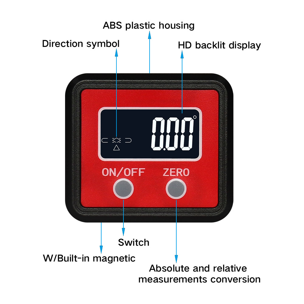 Image 2 - R&D Angle Protractor Universal Bevel 360 Degree Mini Electronic Digital Protractor Inclinometer Tester Measuring ToolsProtractors   -