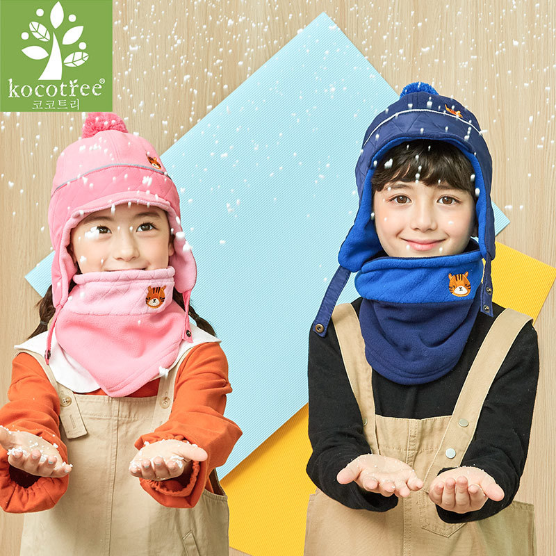 Kocotree 5 12 years old Kids Winter Hat Scarf Children Warm Cap Scarf For Boys Suit Beanie Hats Scarfs For Girl Boy in Hats Caps from Mother Kids