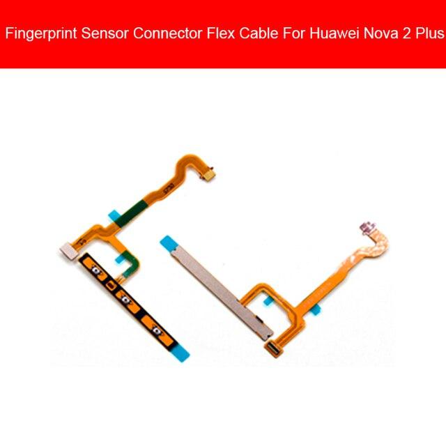 Impressão digital casa botão cabo flexível para huawei nova 2 nova2 plus nova2 + BAC-AL00 BAC-L2 BAC-TL00 retorno sensor de toque flex fita
