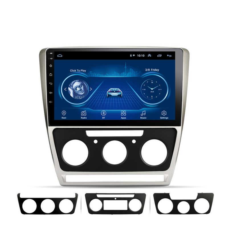 2 DIN 10.1 Inch Android 8.1 untuk Skoda Octavia 2007-2014 Full Touch Mobil Multimedia Wifi Gps Sistem Navigasi mobil Radio