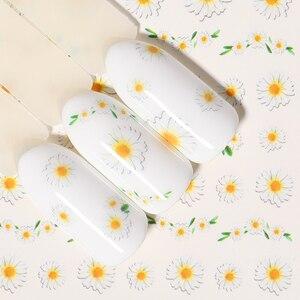 Image 4 - 1 лист наклейки для ногтей водяные цветы серии Маргаритка Лаванда наклейки для ногтей животные серии океан кошка растение переводная наклейка