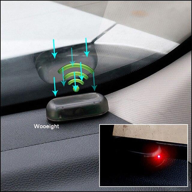 Luz de advertencia de coche antirrobo analógica Solar Universal para peugeot 207, 107, polo, renault, captur, toyota, aygo, opel, astra h, bmw, f30, e36