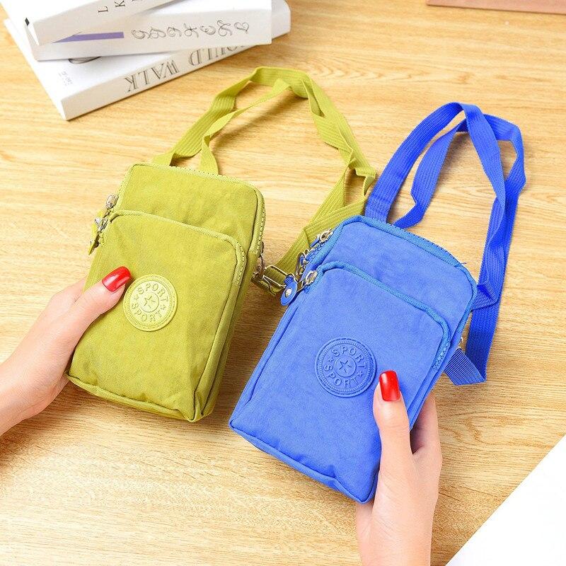 2020 Women Messenger Bag Mobile Phone Bag Coin Purse Wrist Bag Women Bag Canvas Hanging Neck Bag