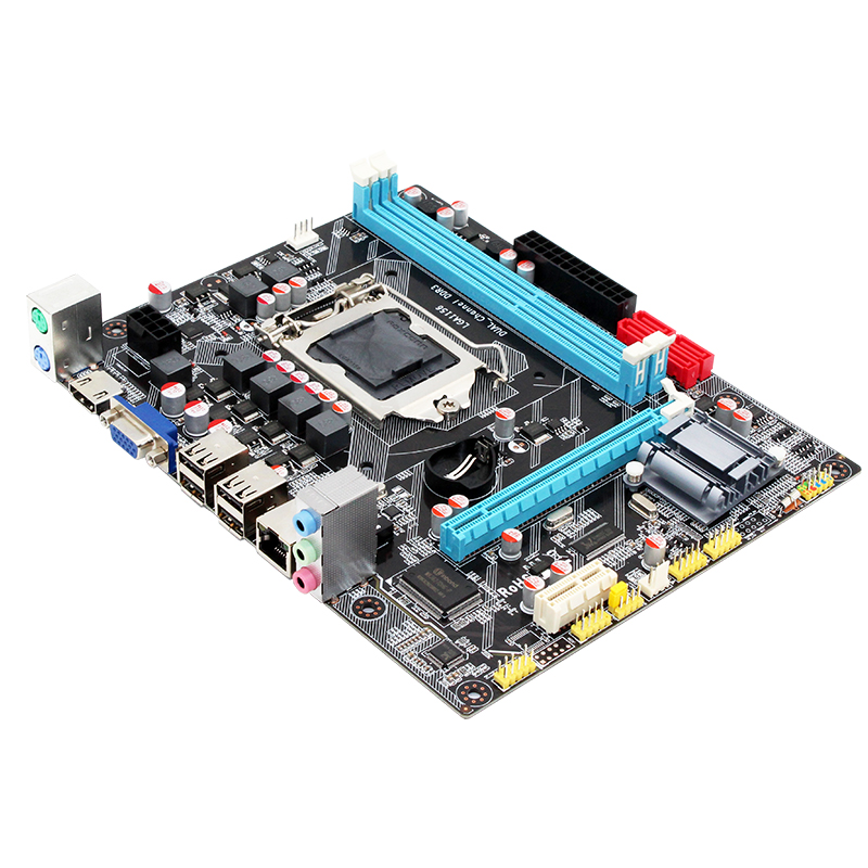 MACHINIST H55 Motherboard socket LGA 1156 Supports DDR3 16G and I3/I5/I7 CPU PCI-Express USB2.0 Ports Mainboard Main Board 1