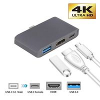 Type C To HDMI USB 3.0 Charging Adapter Converter USB C 3.0 Hub Adapter for Mac Air Pro Huawei Mate10 Samsung S8 Plus New Thunderbolt 3 Adapter    -