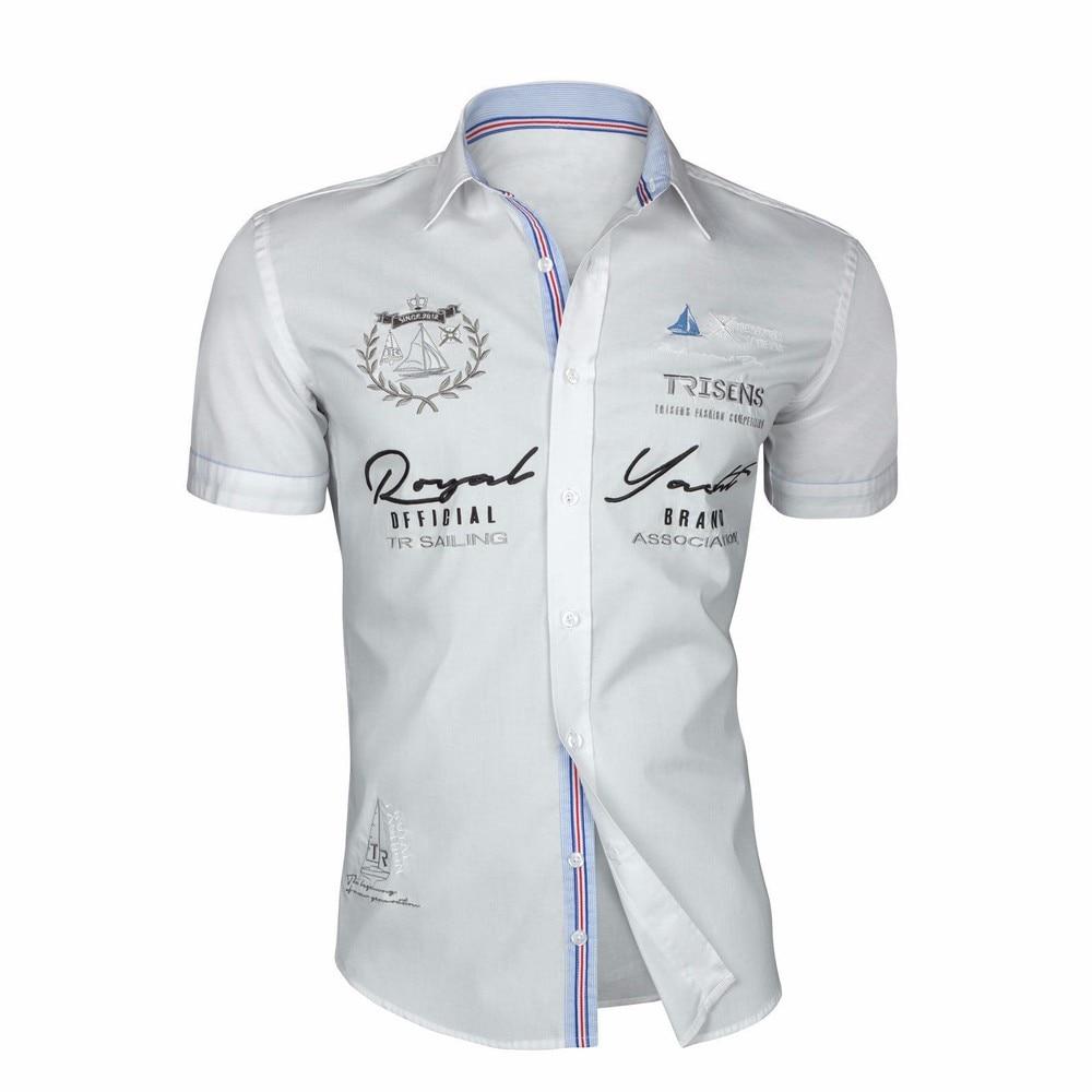 Zogaa 2020 Summer Men Casual Shirts Slim Fit Men's Casual Button Down Shirt Short Sleeve Formal Dress Shirts Men Male Clothing 6