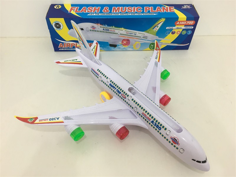Hot Selling Toy CHILDREN'S Toy Educational Lights Music Multidirectional Electric Plane Toy Electric Toys